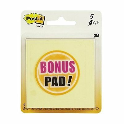 "Post-it Notes, 3"" x 3"", Canary Yellow, 5 Pads/Pack"