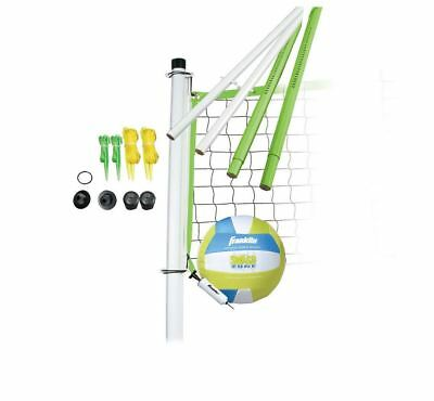 Franklin Sports Portable Volleyball Net Set Outdoor System Carry Bag Beach Park