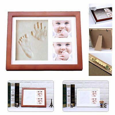 Quality Baby Handprint Footprint Memory Kit Non Toxic Clay Mold & Picture Frame