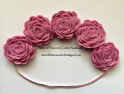 Felt Flower Crown , Baby Headband, Newborn Toddler Baby Headband, Handmade
