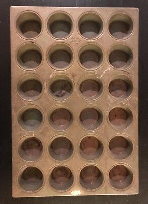 chicago metallic 552D muffin pan vtg commercial bakery 24 cup cake professional