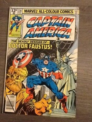Marvel comic Captain America Vol 1 no 236 The Deadly Designs of Doctor Faustus