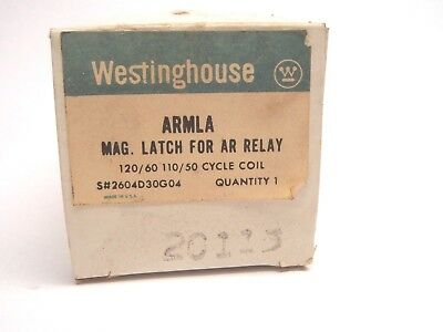 New Westinghouse ARMLA 2604D30G04 MAG. AR RELAY Latch  120/60 110/50 Cycle Coil