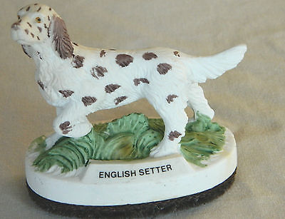 Vintage Jasco English Setter Figurine/lint Brush - Resin - Collectible Animals