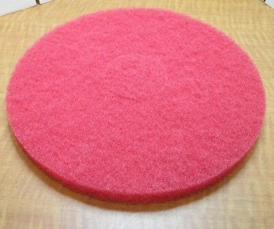 """(5) Recycled Buffing Pad 13"""" Standard Electric and Autoscrub Machine RED NEW"""