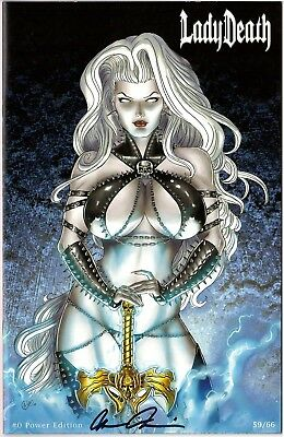 Lady Death 0 POWER edition 59/66 signed by Brian Pulido COA FREE UK POST NM