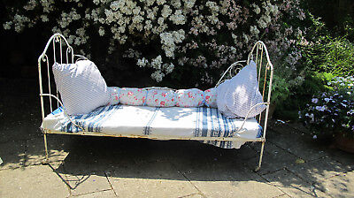 French wrought Iron bed c1800 day bed, garden sofa, conservatory, child antique