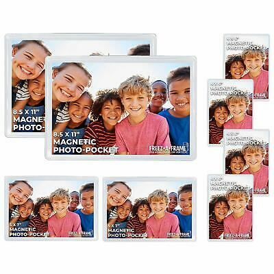 Freez A Frame Magnetic Picture Frame 8 Pack (2) 8.5 x 11 (2) 5 x 7 (4) 4 x 6