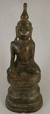 "Antique Bronze Burmese Shan Buddha, c. 17th/18th cent. 10 ½"" tall, 3lb, 12oz."