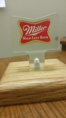 "VINTAGE MILLER HIGH LIFE ACRYLIC BOW TIE 2-3/4"" Beer Tap Handle FREE SHIPPING!"