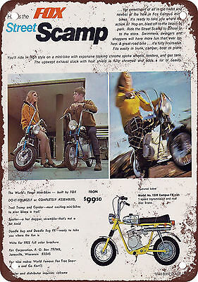 "7"" x 10"" Metal Sign - 1969 Fox Street Scamp Mini-Bike - Vintage Look Reproductio"