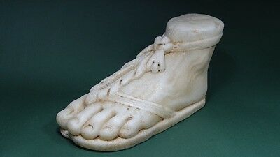 Ancient Marble Foot Life-Size Greco - Roman 100 Bc - 200 Ad