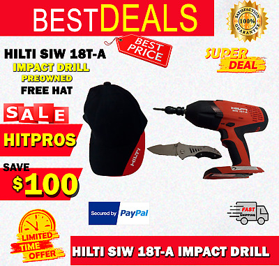 Hilti Siw 18T-A Impact Drill (Tool Only), Preowned, Free Hat, Fast Ship