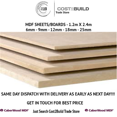 MDF Medium Density Fibreboard MDF board MDF sheets - Various Sizes