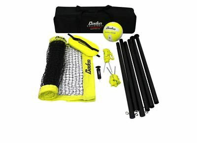baden champions series volleyball 1 25 inch net 8ft poles plus ball and air pump