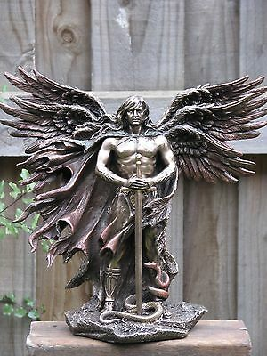 Six-wing Guardian Angel with Serpent~Veronese Collection,26cm Tall,Bronze Statue