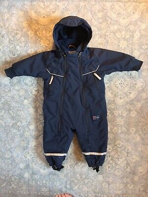 Polran O. Pyret Fleece Lined Baby Overall/Snowsuit/Pram Suit. 9-12 Months.