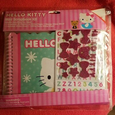 Sanrio HELLO KITTY NEW in Pack Mini Scrapbook Kit Album Stickers Paper