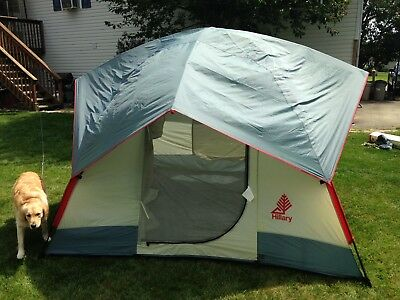 vintage hillary tent 12 x 9 with aluminum poles stakes bags and