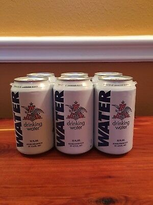 New 2017 6 Pack Can Drinking Water collectible Anheuser Busch Beer St Louis MO