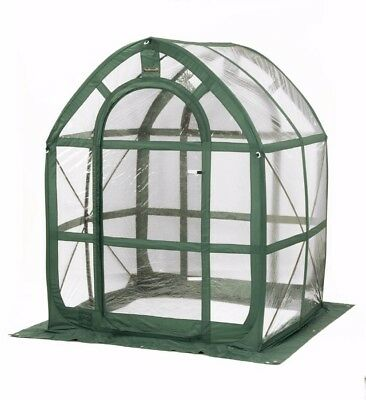 Flowerhouse PlantHouse Clear PVC Panel Pop-Up Greenhouse With 2 Screened Vents