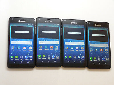 Lot of 4 Kyocera Hydro View C6742 Cricket Smartphones AS-IS GSM