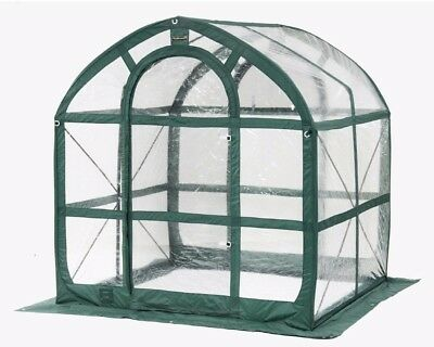 Flower and Plant House In Clear PVC Panel Pop-Up Greenhouse w/ Storage Bag 6x6ft