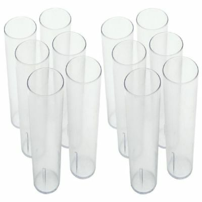 16OZ CLEAR 12PK Restaurant Break Resistant Drinking Glass Cups PLASTIC TUMBLERS