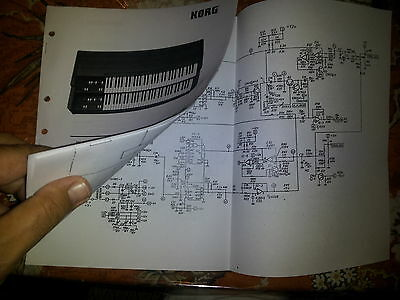KORG BX-3 BX3 (Vintage model) ORGAN REPAIR SERVICE MANUAL