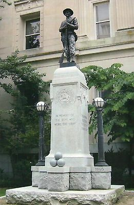 Confederate Soldiers Monument Statue Durham North Carolina, Civil War - Postcard