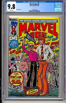 Marvel Age #8  CGC 9.8 WP  Comics 11/83  STAN LEE & JIM SHOOTER COVER Spider-Man