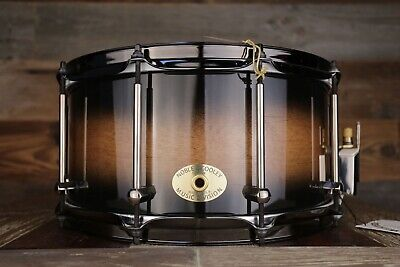 Noble & Cooley 14 X 7 SS Classic Birch Solid Shell Snare Drum, Burnt Ale Matte