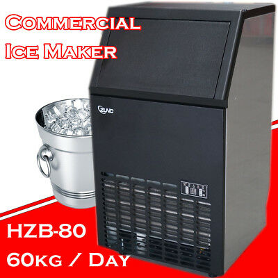 Commercial ICE Cube Maker Machine for Home Business Fast Easy Auto 80KG/Day