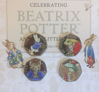 2017 Beatrix Potter full set or Individual 50p Fifty pence  collector album NEW
