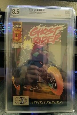 GHOST RIDER #1 (V2) PGX 8.5 VF White Pages 501257413 MARVEL COMICS