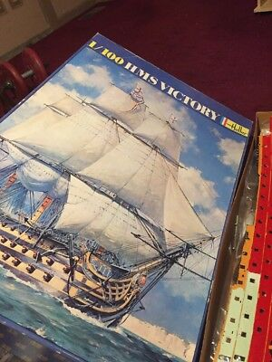 Heller 1/100 Hms Victory In Good Condition Open Box