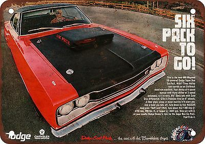 "7"" x 10"" Metal Sign - 1969 Dodge Super Bee 440 6 Pack - Vintage Look Reproductio"