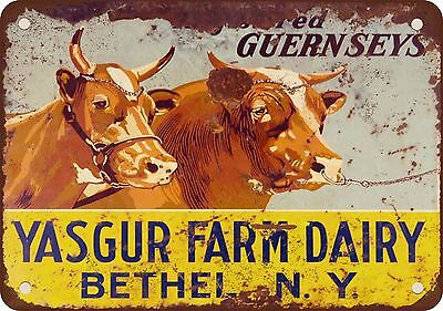 "7"" x 10"" Metal Sign - 1969 Max Yasgur Farm Sign Woodstock - Vintage Look Reprodu"