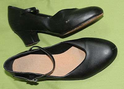 Bloch Black Leather & Synthetic Dance Shoes - Sz 8