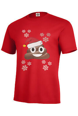 Christmas Poop Emoji T-Shirt Holiday Assorted Colors S-5Xl & Kids Xs2-4-Xl18-20