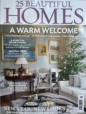 25 Beautiful Homes Magazine January 1/2018 New Year New Looks Current Issue