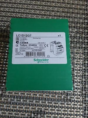 Schneider Electric LC1D12G7 Contactor 120V coil NEW SEALED BOX  MADE IN FRANCE