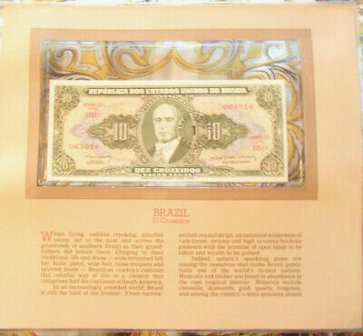 Most Treasured Banknotes Brazil 10 Cruzeiros 1967 UNC P183b serie 3791A