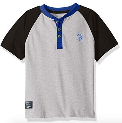 NEW U.S. Polo Assn. Little Boys' Raglan Color-Block Henley Shirt sizes 2T-18