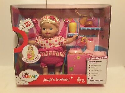 Little Mommy Laugh & Love baby Interactive Talking Doll with Accessories NEW