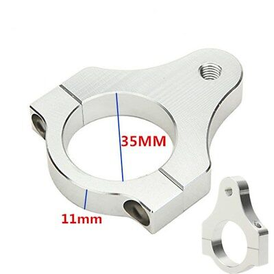 Durable 35mm Aluminium Steering Damper Fork Frame Clamp Bracket for Motorcycle