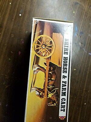 Shire Horse and Farm Cart New in Box