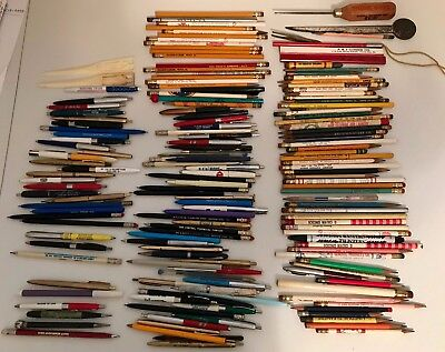 Lot 160 +  Vintage Pens Pencils Mechanical Ballpoint Advertisment Letter Openers