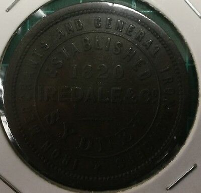 Iredale & Co 1820 1d token (R295) VF (1056)