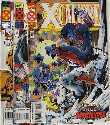 """Marvel Comics X-Calibre lot of 3 books.  """"After Xavier-Age of Apocalypse"""""""